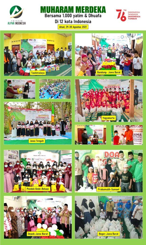 Galeri Kegiatan santunan di berbagai kota di Indonesia.